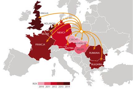 Rozwój sklepów internetowych Krakvet w Europie