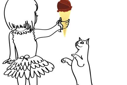 Lody, cukierki i ciastka nie dla kotów!, fot. Depositphotos
