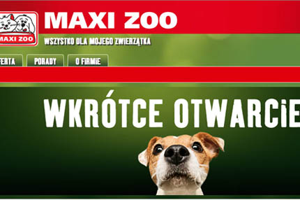 Polska strona internetowa Maxi Zoo